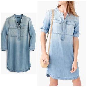 J. Crew small Blue Drapey Chambray Shirtdress